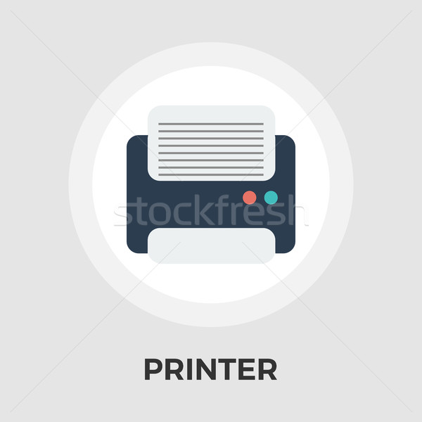 Printer flat icon Stock photo © smoki