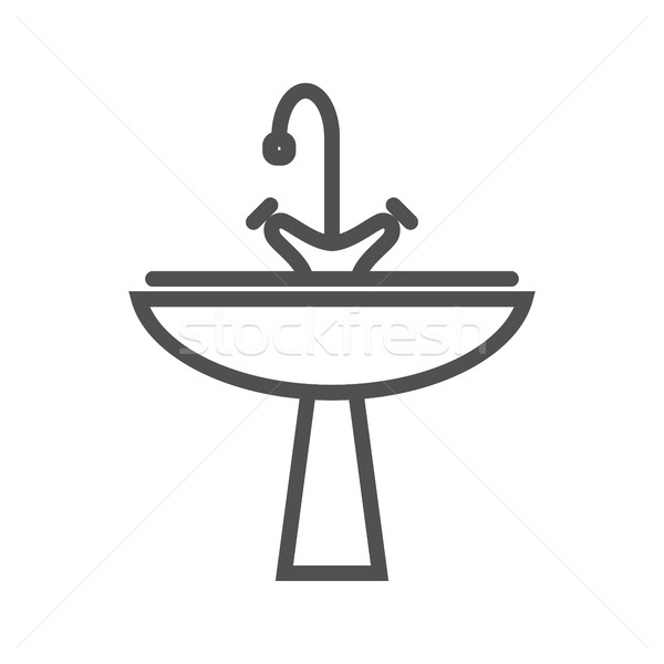 Sink line icon Stock photo © smoki