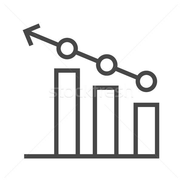 Chart Line Icon Stock photo © smoki
