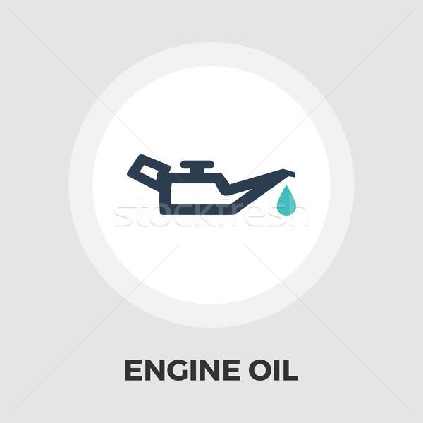 Engine oil flat icon Stock photo © smoki