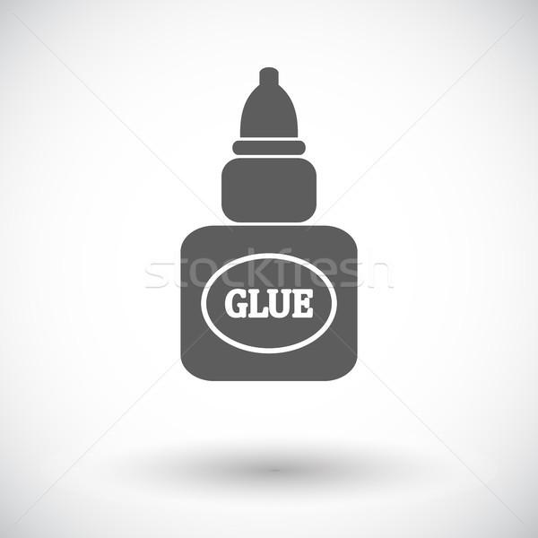 Colla icona bianco arte pittura bottiglia Foto d'archivio © smoki