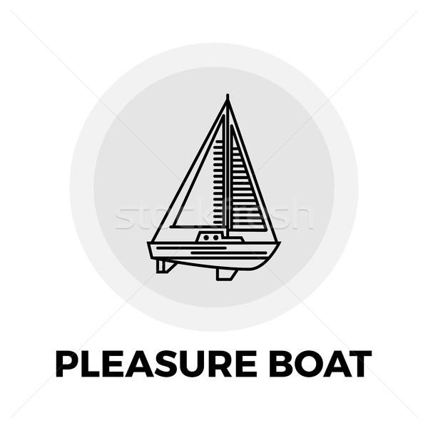 Plezier boot lijn icon vector afbeelding Stockfoto © smoki