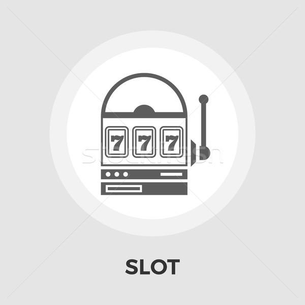 Slot vector flat icon Stock photo © smoki