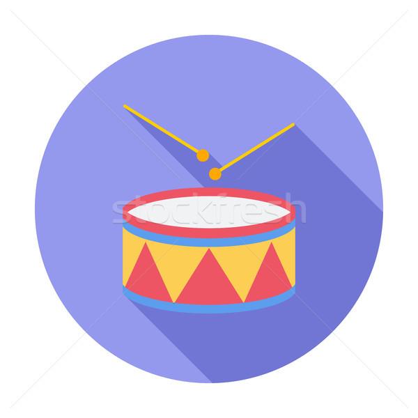 Drum icon Stock photo © smoki