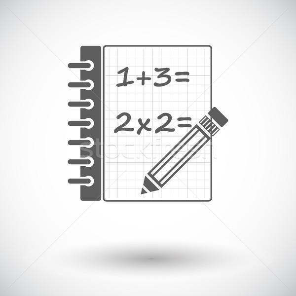 Matematica icona bianco design arte iscritto Foto d'archivio © smoki