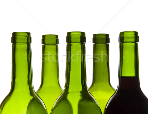 Wine bottles close-up Stock photo © smoki