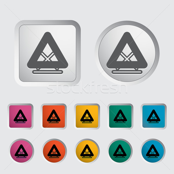 Warning triangle single icon. Stock photo © smoki