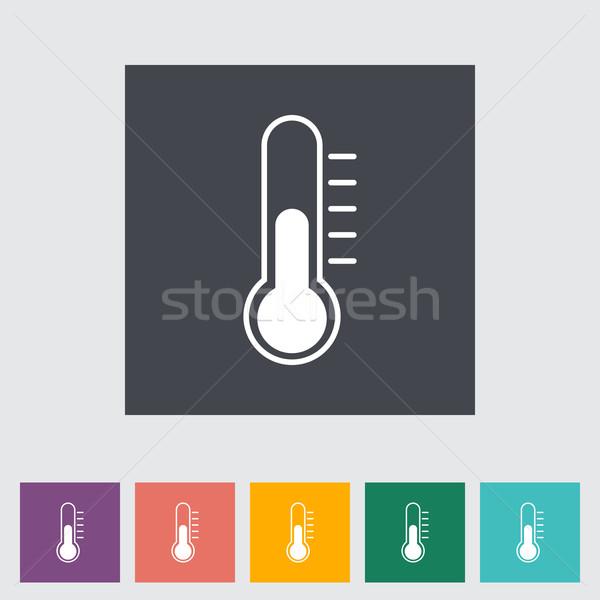 Thermometer flat icon. Stock photo © smoki