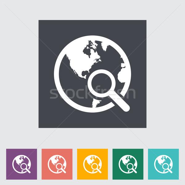 Global search single icon. Stock photo © smoki