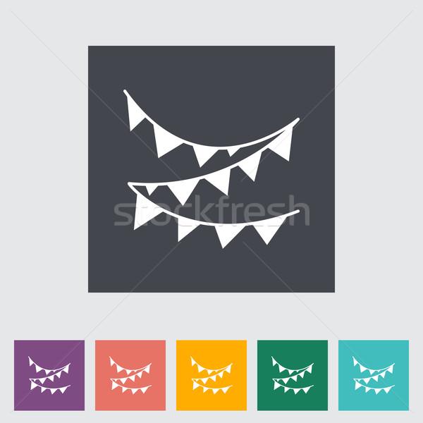 Bunting icon Stock photo © smoki
