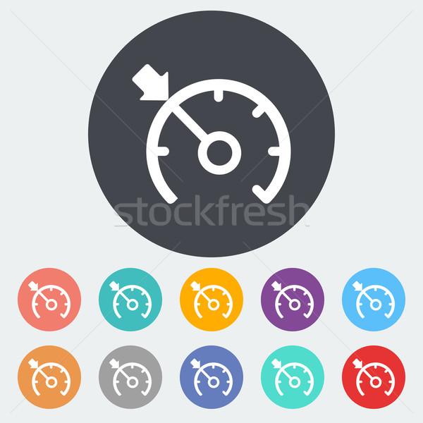 Crociera controllo icona cerchio nero macchina Foto d'archivio © smoki