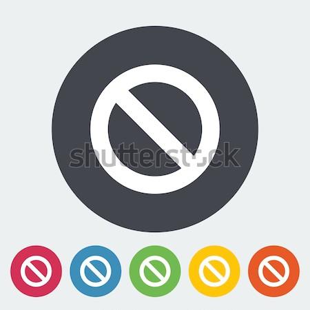 Prohibition sign. Stock photo © smoki