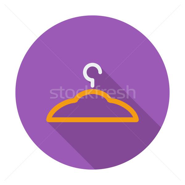 Hanger kleur icon metaal silhouet kleding Stockfoto © smoki