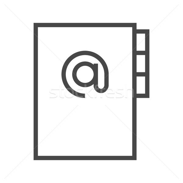 Adressbuch line Symbol dünne Vektor isoliert Stock foto © smoki