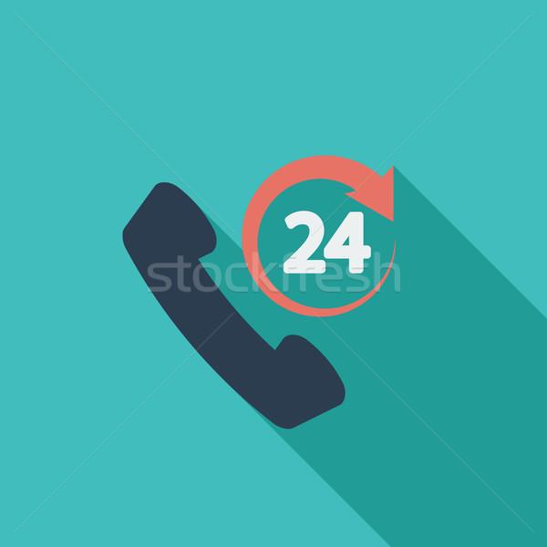 поддержки 24 икона вектора долго тень Сток-фото © smoki