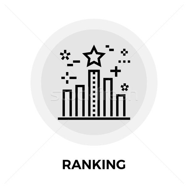 Ranking line Symbol Vektor isoliert weiß Stock foto © smoki