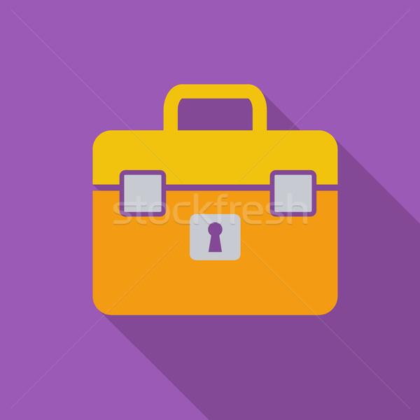 портфель икона вектора долго тень веб Сток-фото © smoki