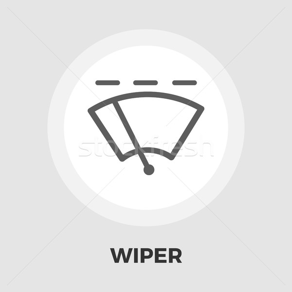 Car wiper flat icon. Stock photo © smoki