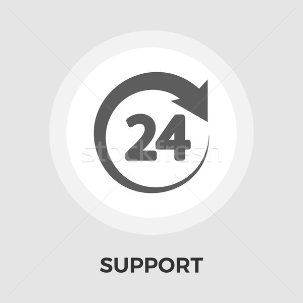 Support 24 hours flat icon Stock photo © smoki