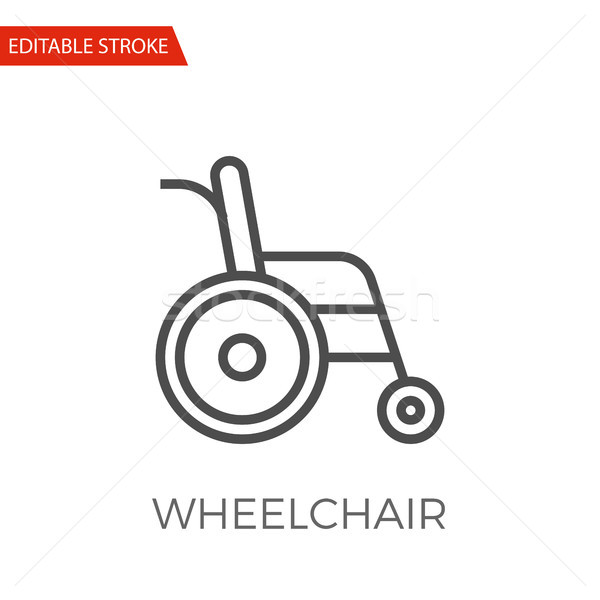 Fauteuil roulant vecteur icône léger ligne isolé Photo stock © smoki