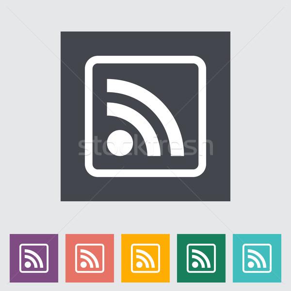 Rss icona internet arte news arancione Foto d'archivio © smoki