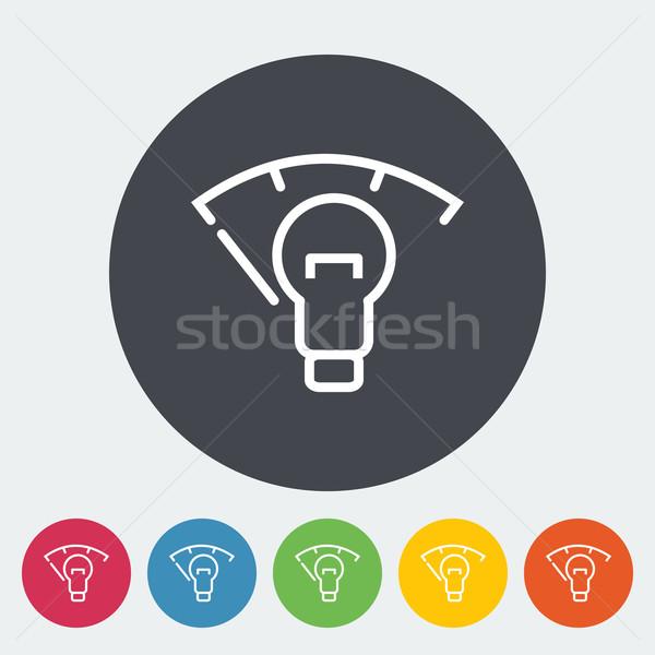 Voiture panneau éclairage tableau de bord icône cercle Photo stock © smoki