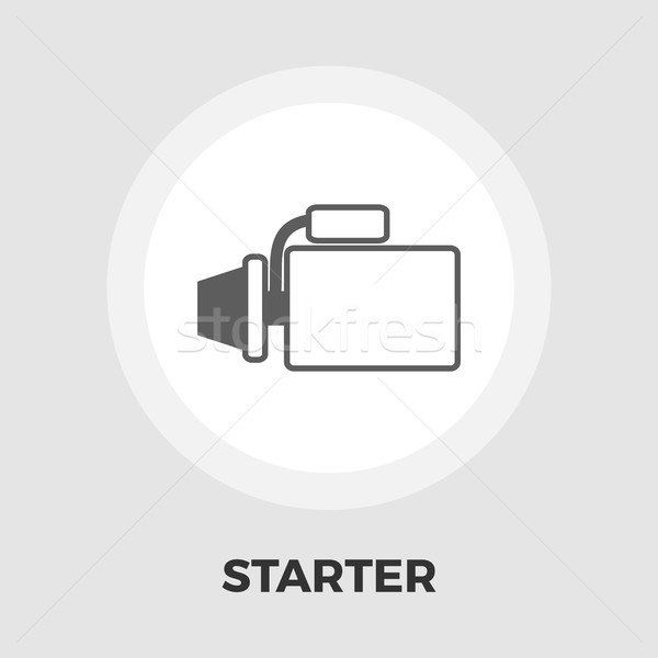 Automotive starter flat icon Stock photo © smoki