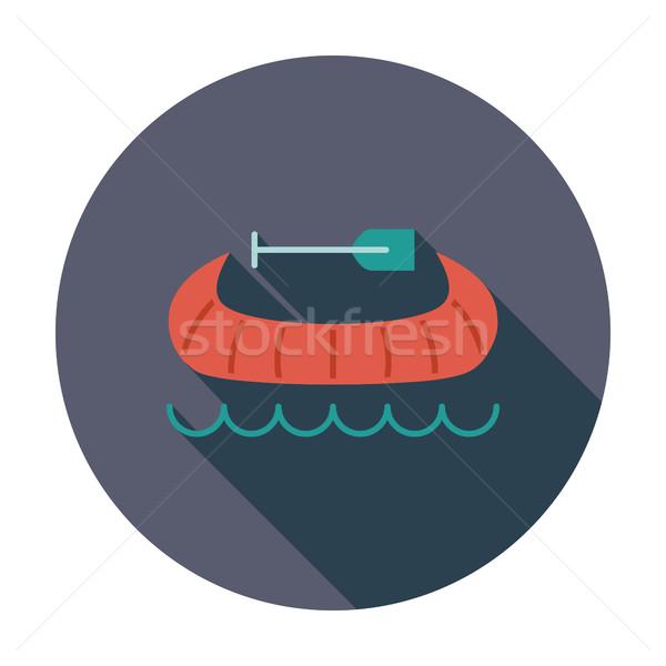 Canoa icona vettore mobile web applicazioni Foto d'archivio © smoki