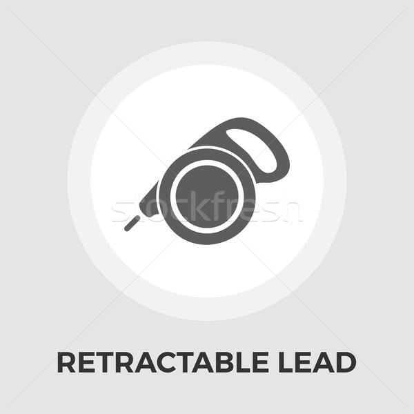 Stock photo: Retractable lead vector flat icon