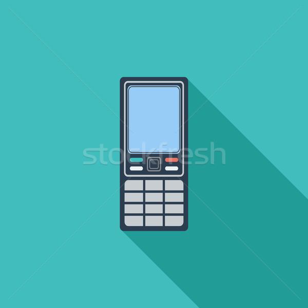 Phone single icon. Stock photo © smoki