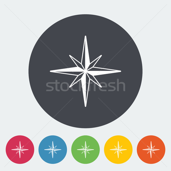 Wind steeg icon cirkel knop kaart Stockfoto © smoki