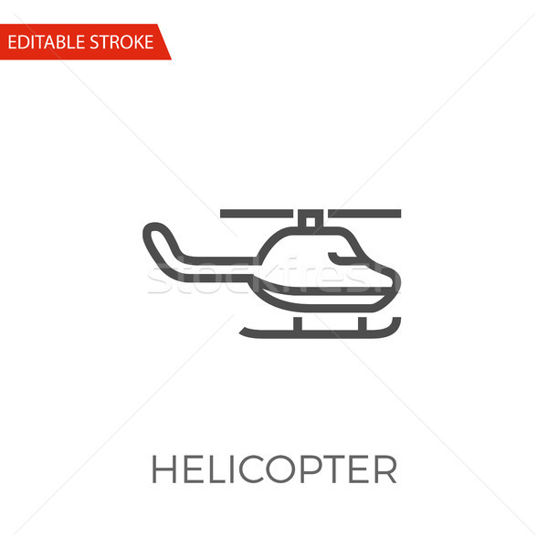 Helikopter vector icon dun lijn geïsoleerd Stockfoto © smoki