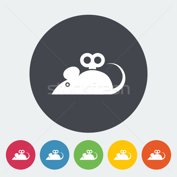 Muis speelgoed icon vector web mobiele Stockfoto © smoki