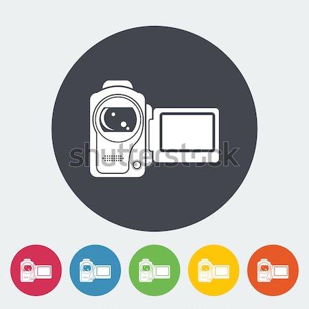 Filmadora ícone cor filme projeto fundo Foto stock © smoki