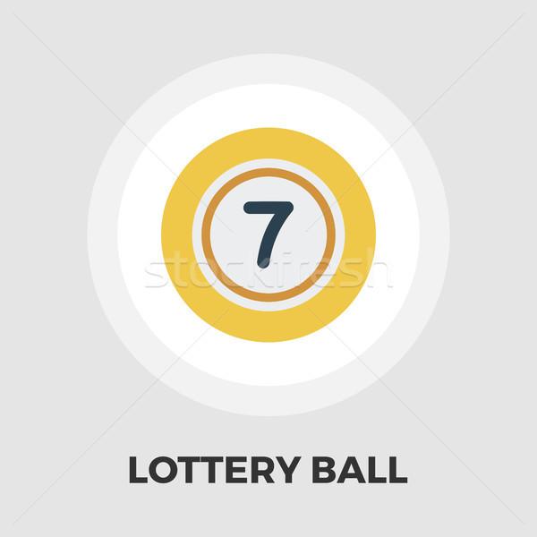 Loterij bal icon vector geïsoleerd witte Stockfoto © smoki