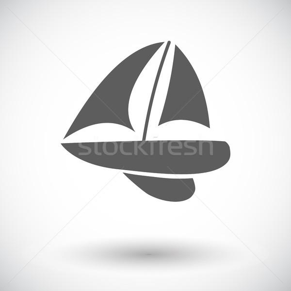 Jacht ikon fehér víz terv nyár Stock fotó © smoki