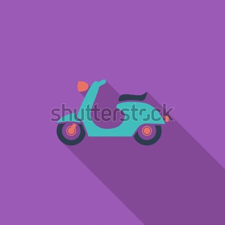 Ikon vektör uzun gölge web Stok fotoğraf © smoki