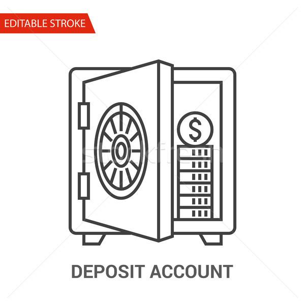 Deposit Account Icon. Thin Line Vector Illustration Stock photo © smoki
