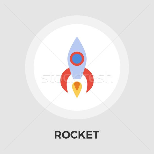 Raket vector icon geïsoleerd witte Stockfoto © smoki