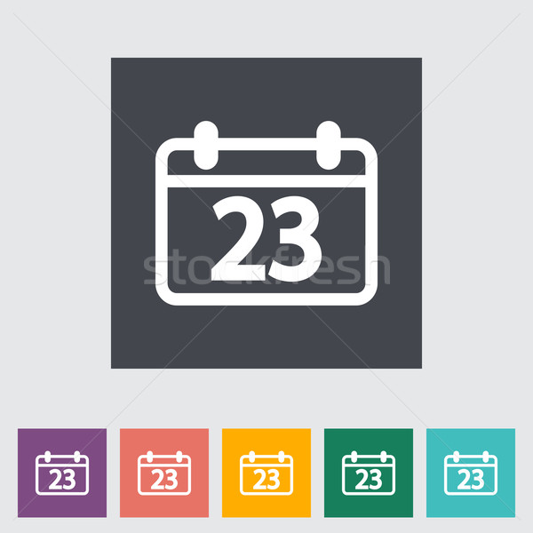 Calendar flat icon Stock photo © smoki