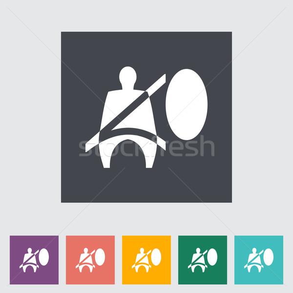 Koltuk kemer imzalamak oto sürücü vektör Stok fotoğraf © smoki