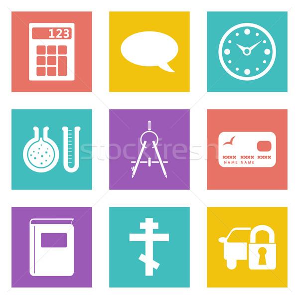 ícones web design conjunto 15 móvel aplicações Foto stock © smoki