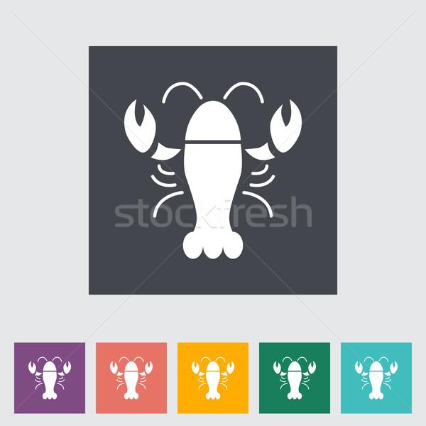 Lagosta ícone botão natureza mar restaurante Foto stock © smoki