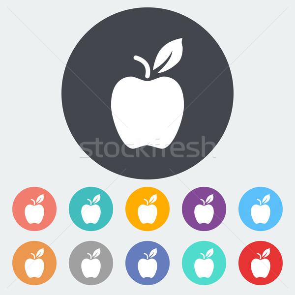 Apple flat icon Stock photo © smoki