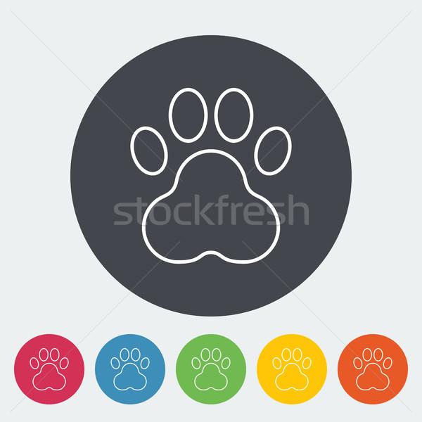Pata icono delgado línea vector web Foto stock © smoki