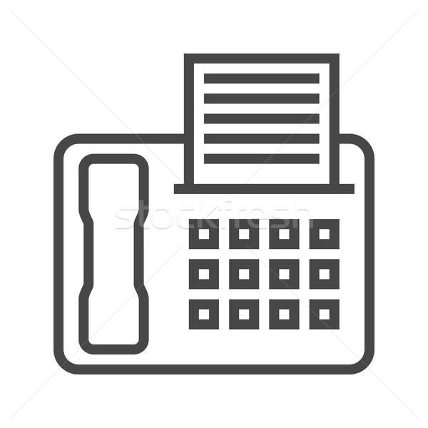 Fax ligne icône léger vecteur isolé Photo stock © smoki