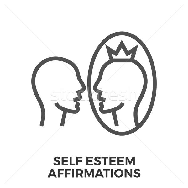 Stock photo: Self esteem affirmations