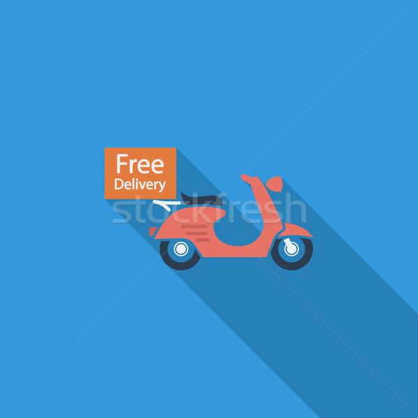 бесплатная доставка икона вектора долго тень веб Сток-фото © smoki