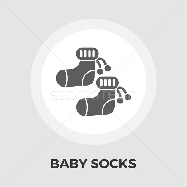 Children socks Vector Flat Icon Stock photo © smoki