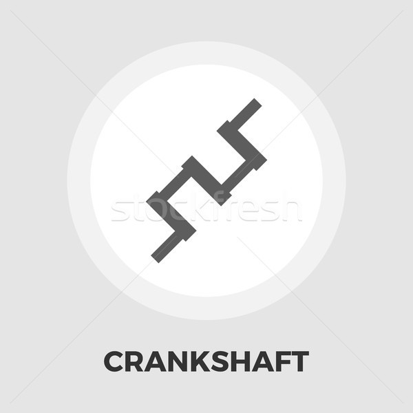 Crankshaft flat icon Stock photo © smoki
